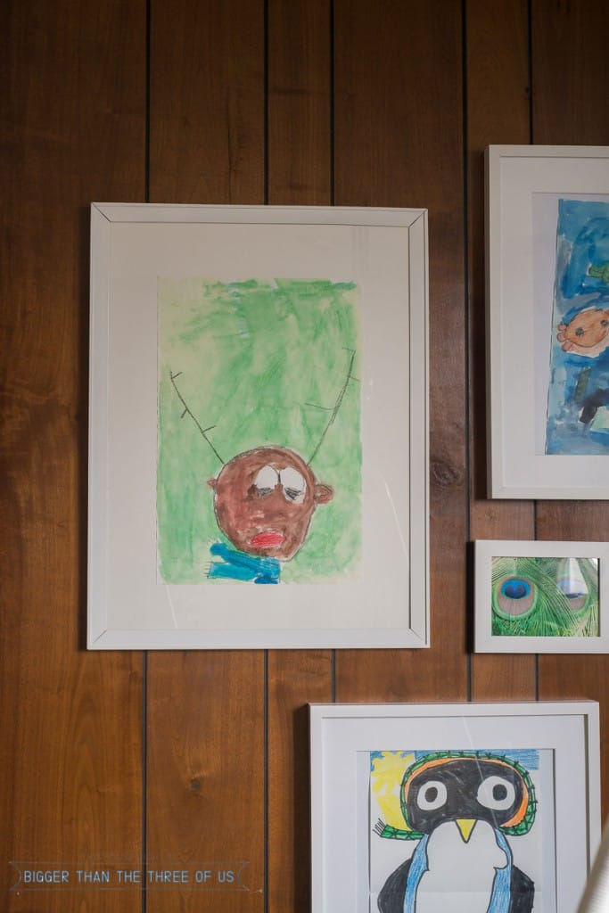How to Create A Gallery Wall of Your Children's Artwork