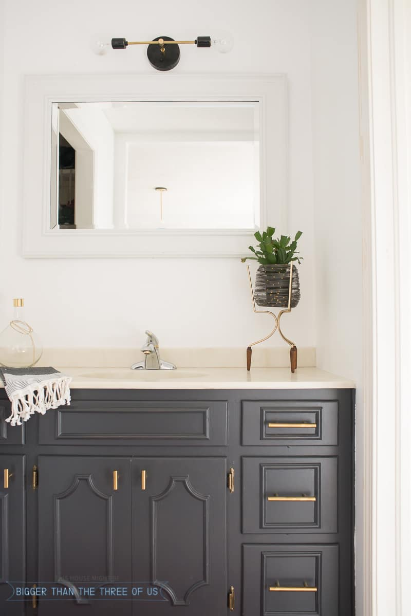Bathroom Nook minimal modern bathroom nook reveal for $87! - bigger than the