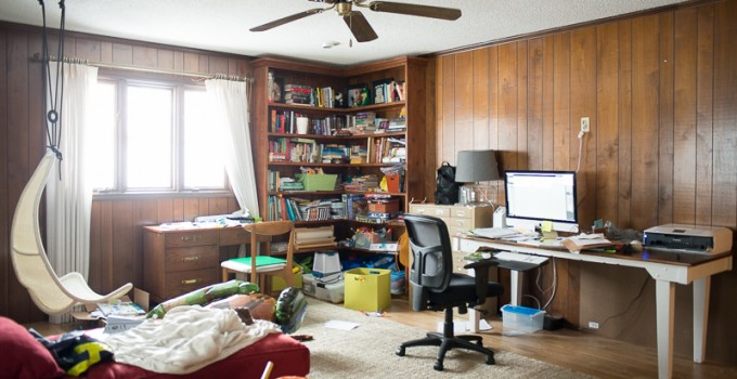 New Year Refresh for Messy Playroom Office Combo