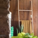 Simple Five Minute, Five Dollar DIY Blanket Ladder