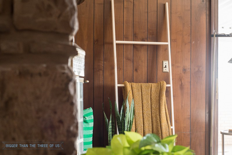 Simple Five Minute, Five Dollar DIY Blanket Ladder