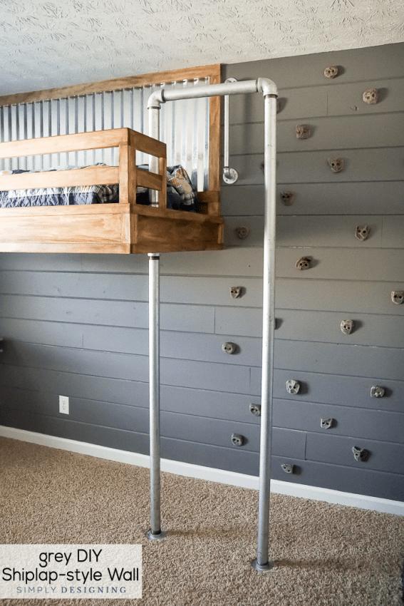 Gray DIY shiplap