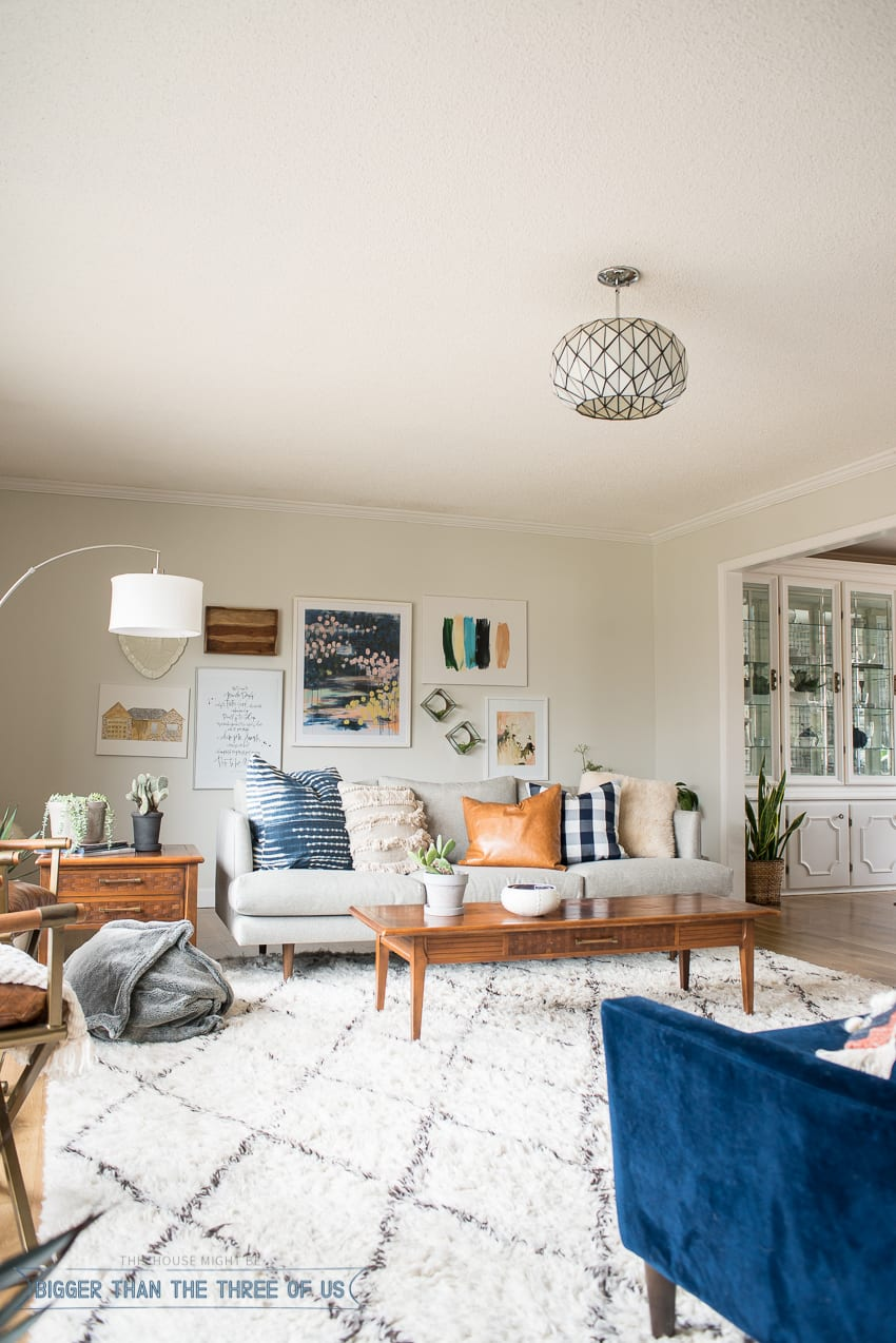 Mid Century Eclectic Modern And Bright Living Room