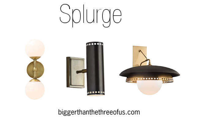 Black and Brass Sconces for the Living Room