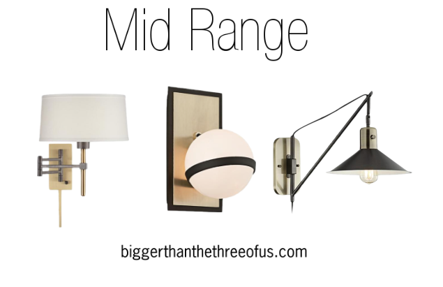 Modern Black and Brass Wall Sconces | A Round-Up of My Favorite Sconces