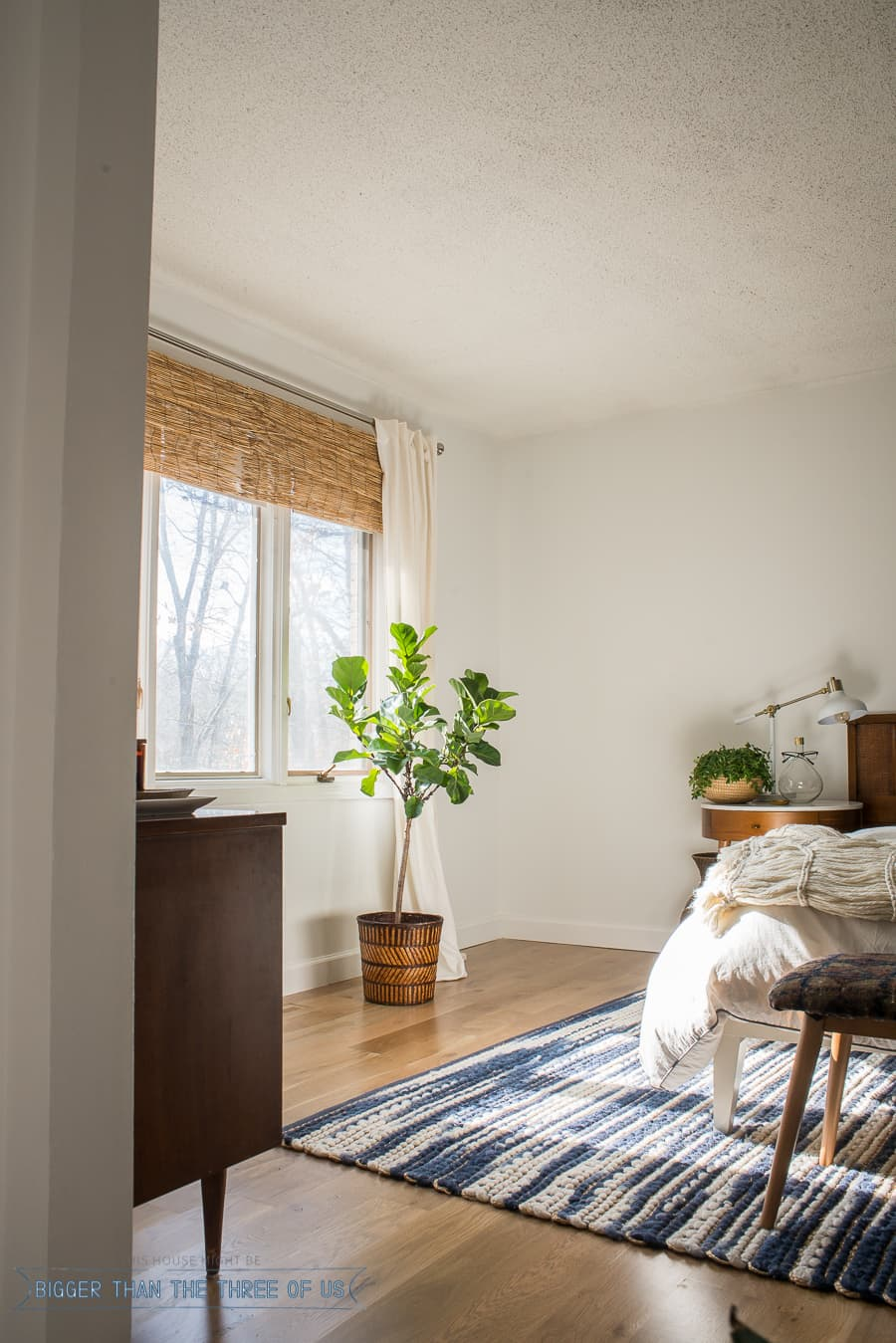 Mid-Century Bedroom Reveal - Bigger Than the Three of Us