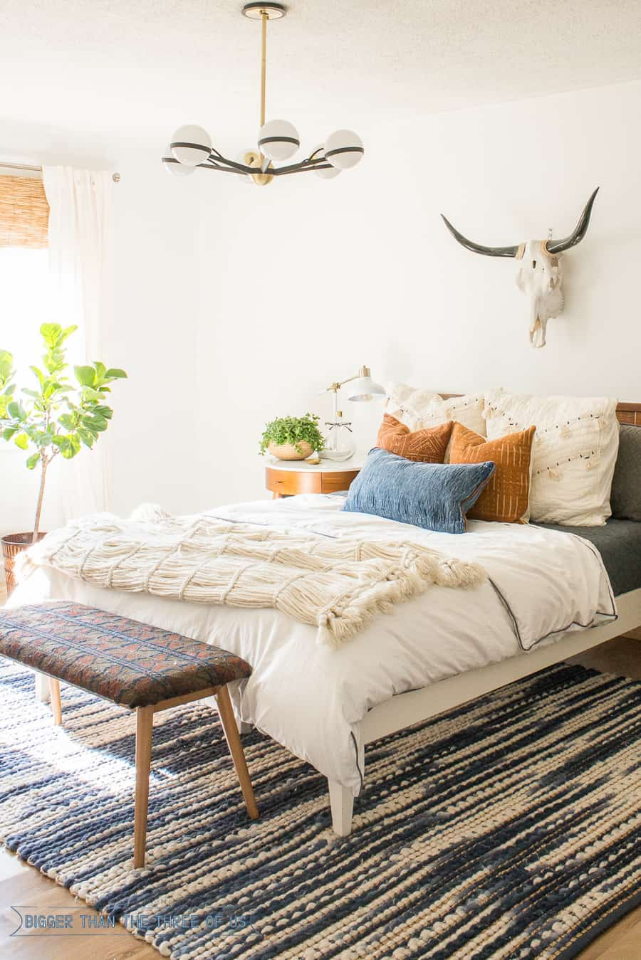 Mid century bedroom reveal bigger than the three of us - Midcentury modern bedroom furniture ...