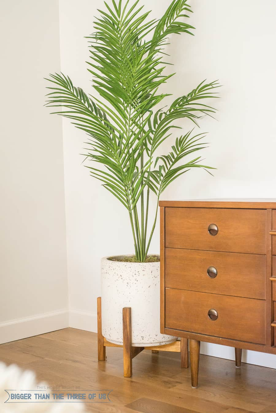 Palm Tree Bedroom Furniture Mid Century Bedroom Reveal Bigger Than The Three Of Us