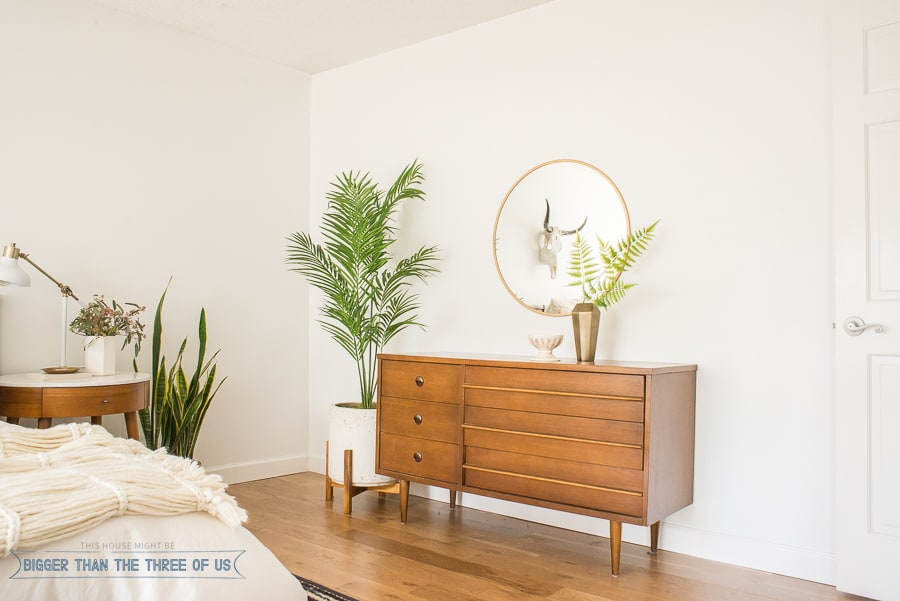 How to style a mid-century dresser