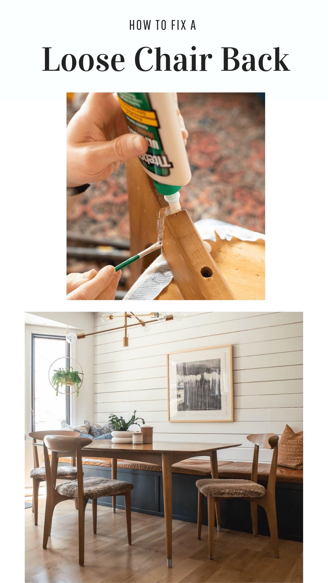 fix a broken chair with glue