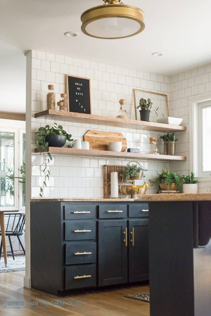 How I Cut Corners with the Kitchen Shelving - Bigger Than ...