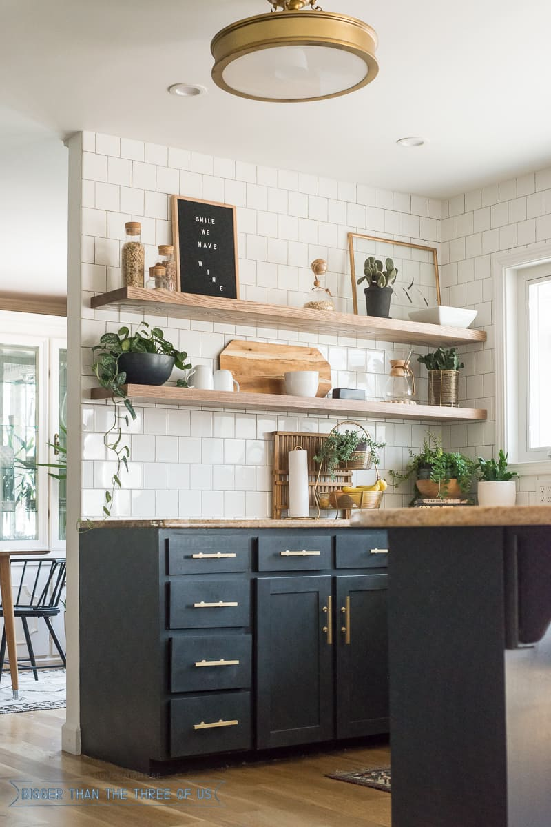 The Benefits Of Open Shelving In The Kitchen: The Ugly Truths :: How I Cut Corners With The Kitchen