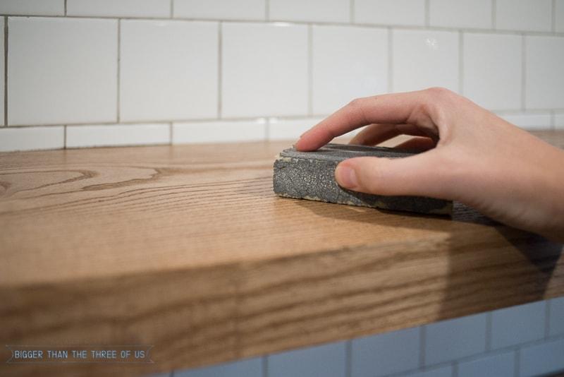 DIY Floating Wood Shelves in The Kitchen