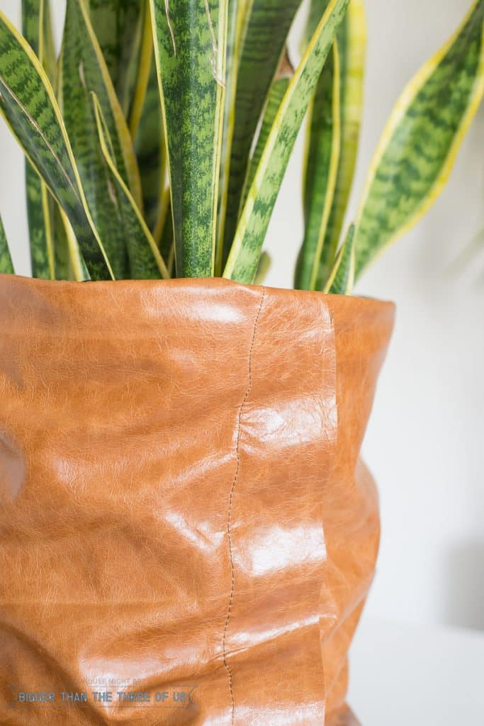 Get the how-to for making this leather planter!