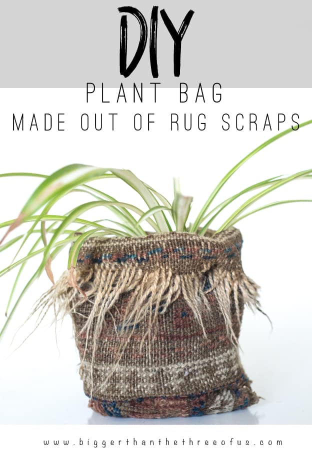 Upcycle a old rug to a cute planter in just a few easy steps!