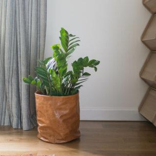 Scrap fabric planter pot