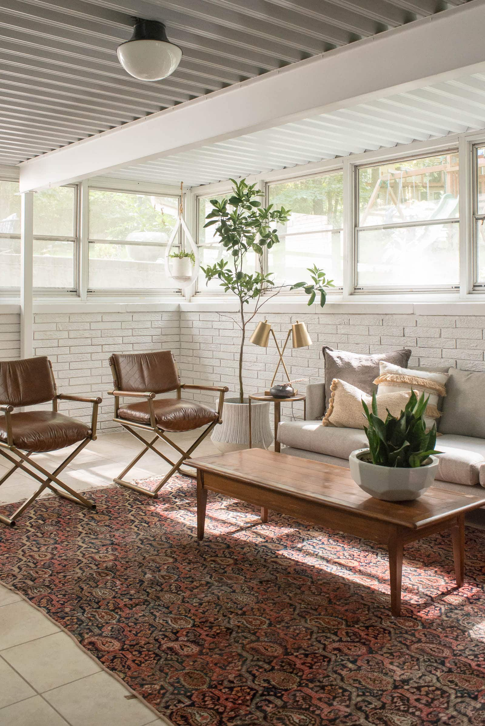 Plants in a sunroom