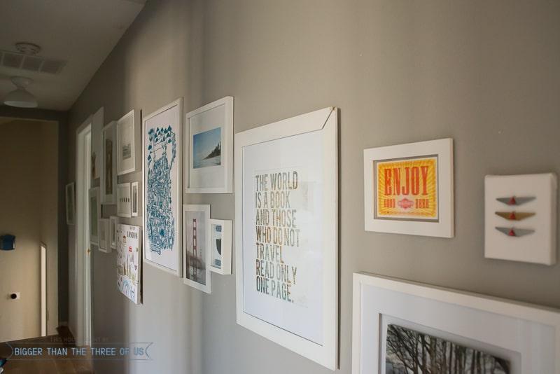 Travel Gallery Wall In Hallway