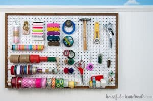 How to Hang A Pegboard