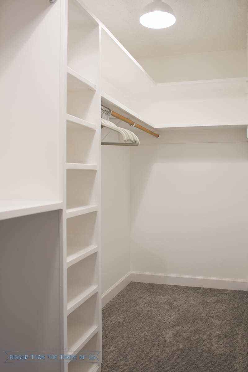 In The Middle Of DIY Closet Makeover For Master Bedroom