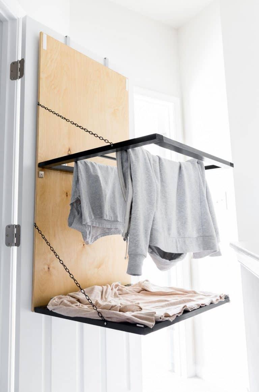 Hanging Clothing Rack DIY