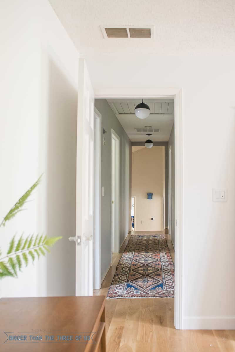 Updating a Hallway with a Vintage Persian Rug