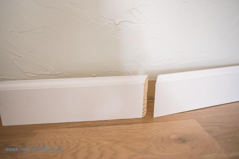 Angle of baseboard
