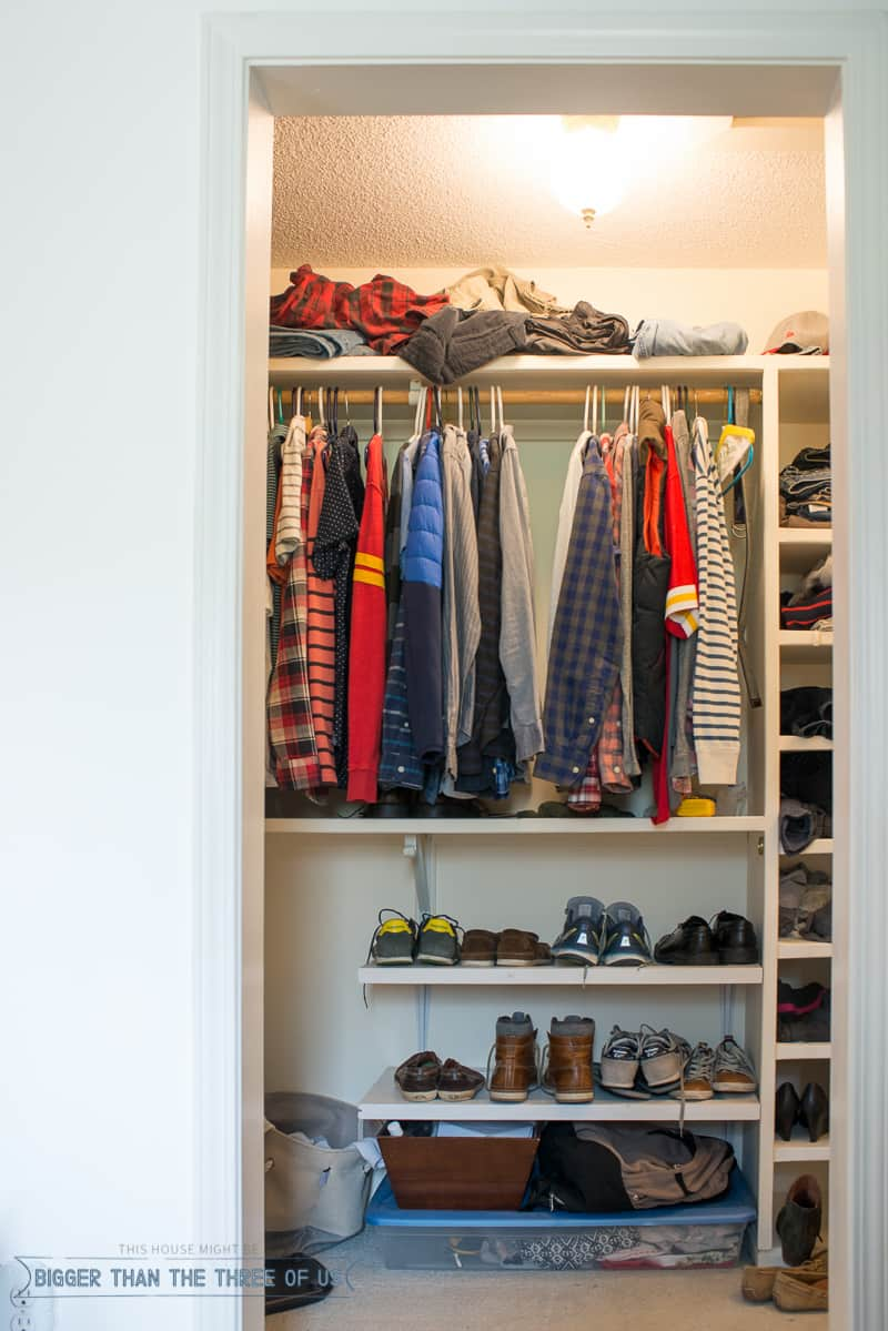 DIY Closet Makeover With Loads Of Organization (BEFORE)