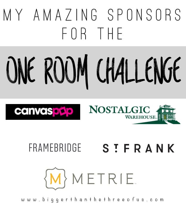 Amazing Sponsors for the One Room Challenge
