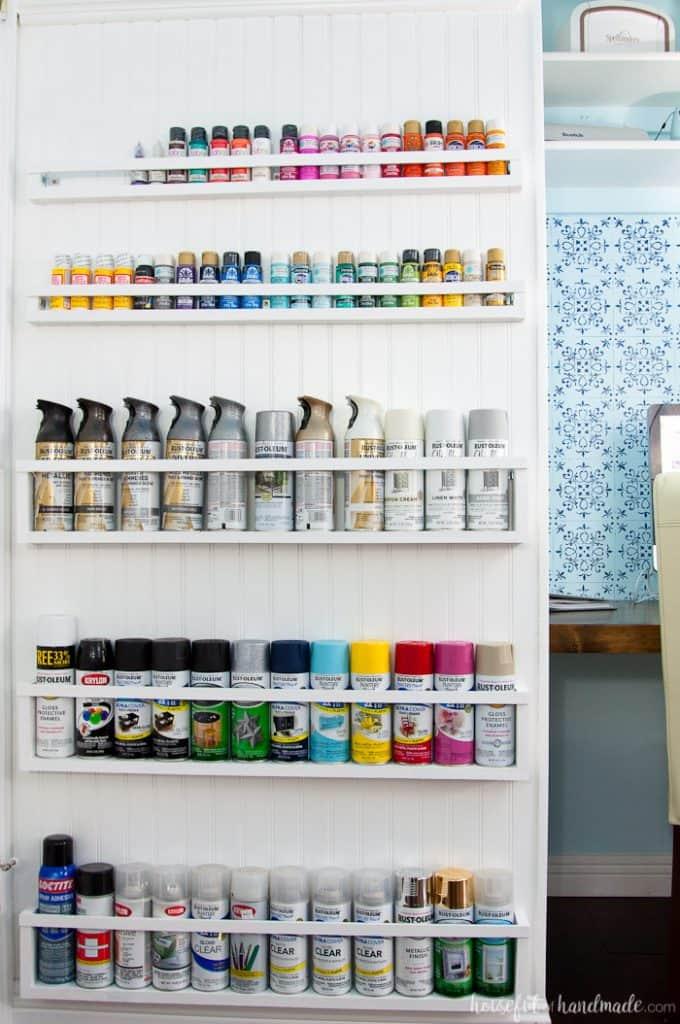 DIY Paint Storage Shelves