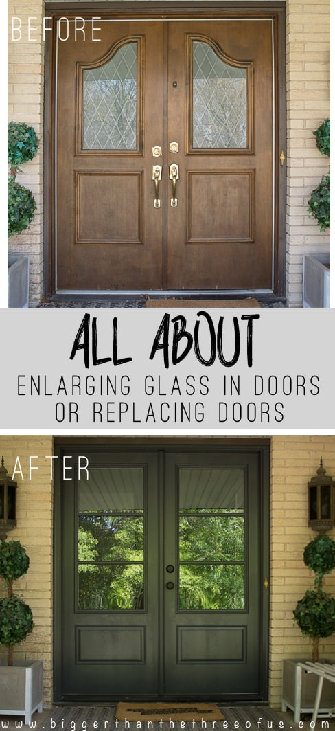 Install and Enlarge Glass in Exterior Doors or Replace Exterior Doors :: Our Dilemma