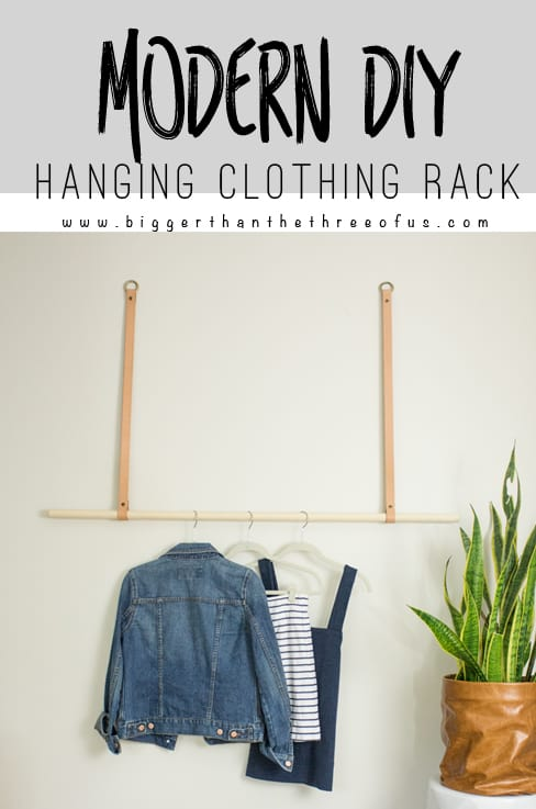 DIY Modern Hanging Clothing Rack