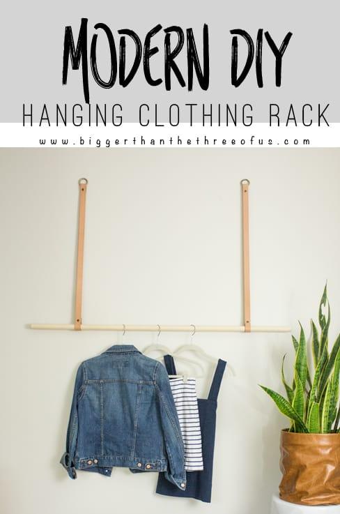 DIY Modern Hanging Clothing Rack