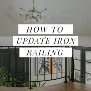 Wrought iron railing update