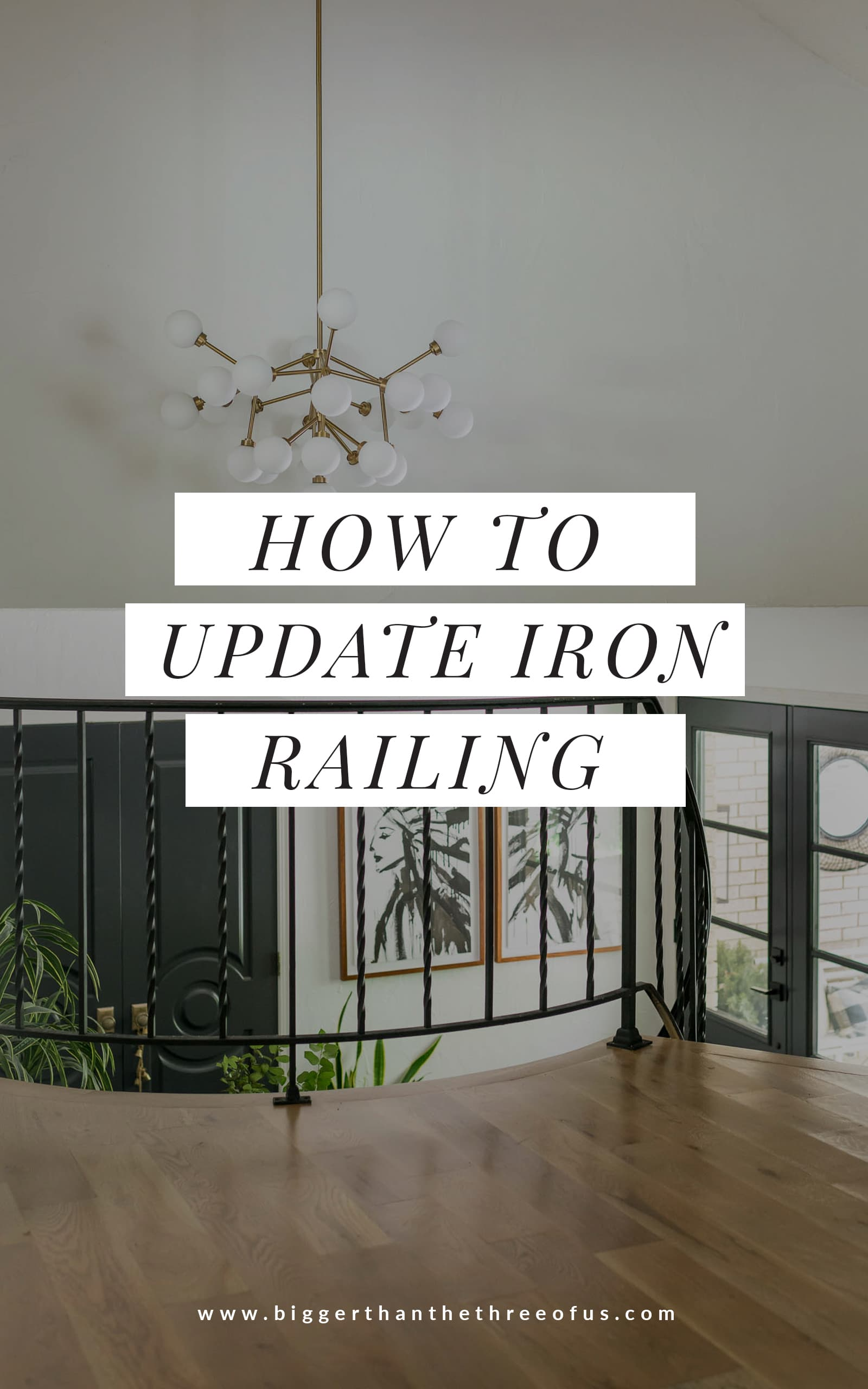 Stair Railing Idea Update Wrought Iron Handrails Bigger Than The Three Of Us