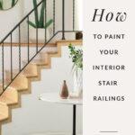 paint interior stair railing