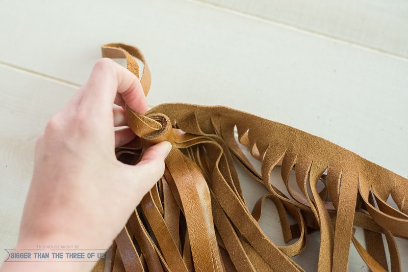How to Make a Leather Tassel in FIVE minutes with only 3 Supplies!