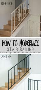 How To Modernize Stair Railings By Getting Rid Of The Scrolls