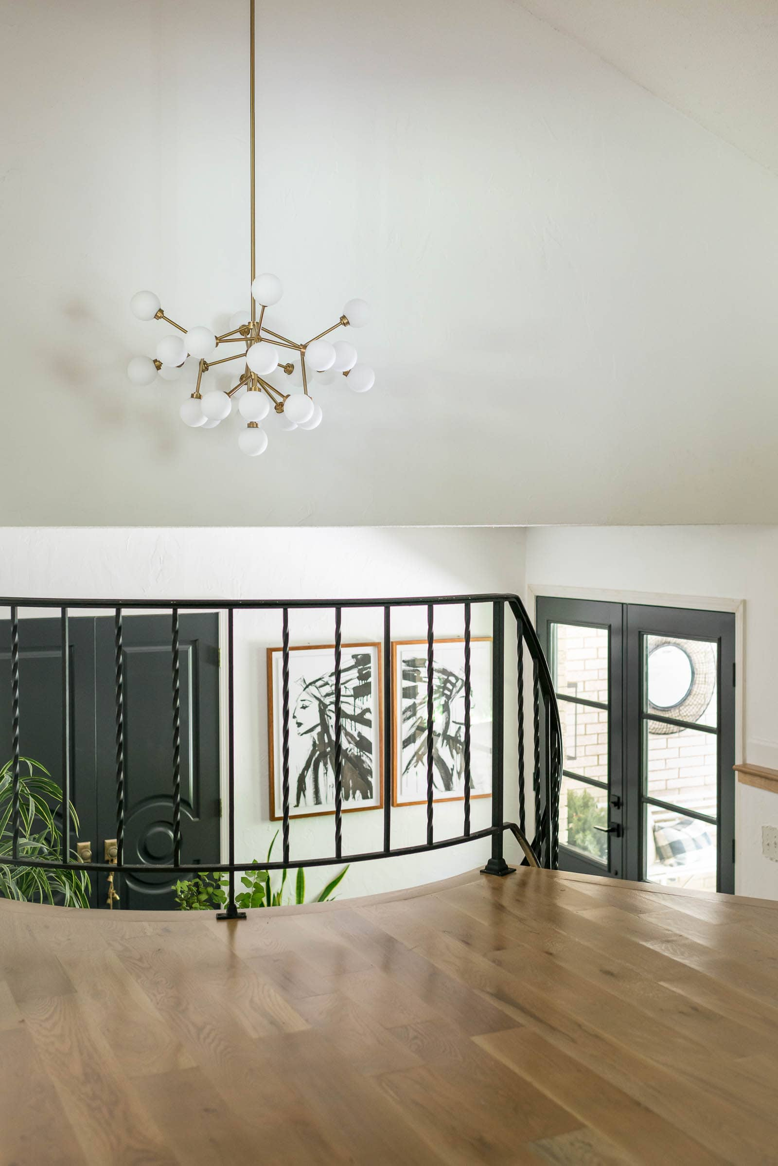 How do you paint wrought iron railings