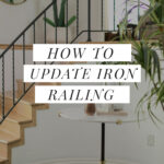 Grinding off iron railing