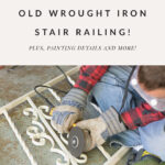 Wrought iron railing grinding