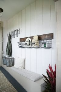 Lovely before and after mudroom renovation