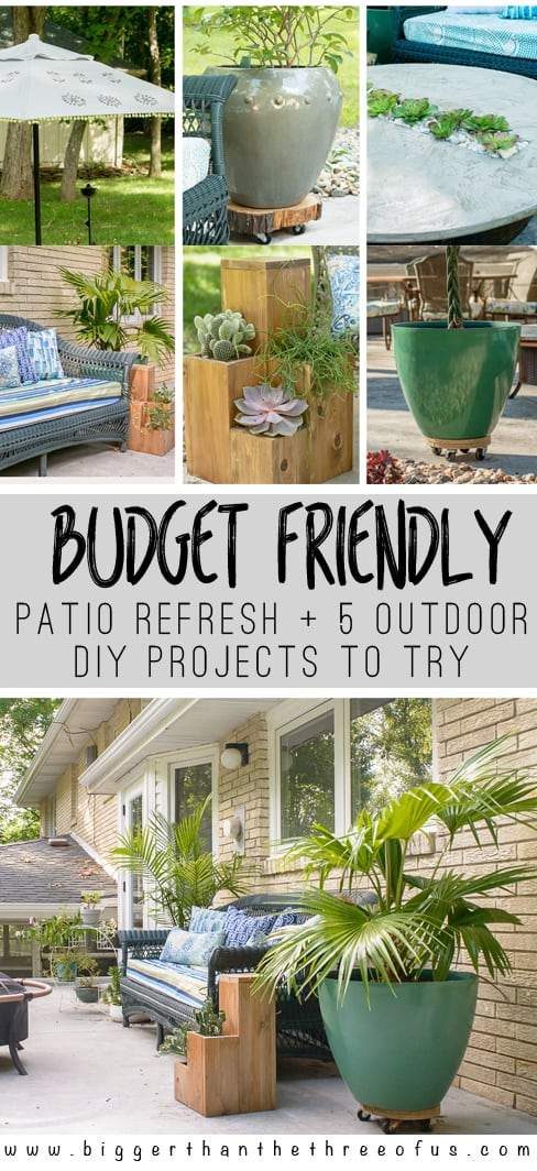Budget Friendly Diy Home Decorating Ideas Tutorials 2017: Budget-Friendly Patio Refresh + 5 Outdoor Projects For You