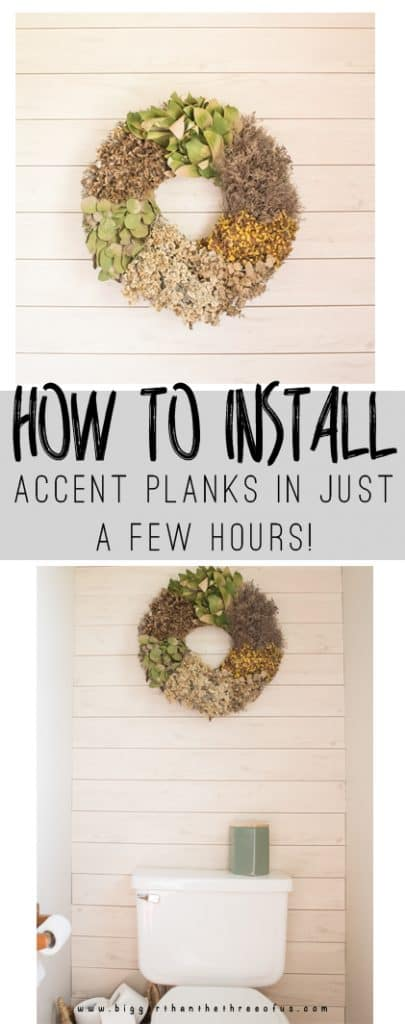 How to install Accent Planks (Shiplap , modern accents, wall, treatment, etc!) in just a few hours!