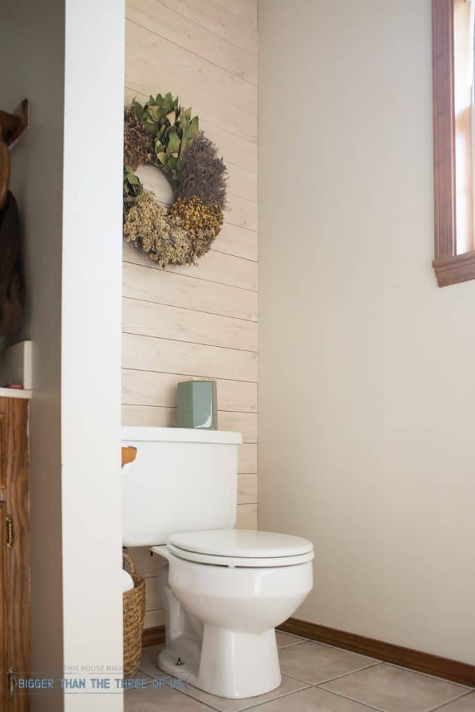 Install this plank wall in just a few hours - plus, it's renter-friendly!