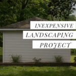 inexpensive landscaping around shed