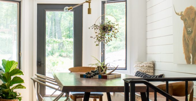 Leather Bench Seat in Eat-In Kitchen
