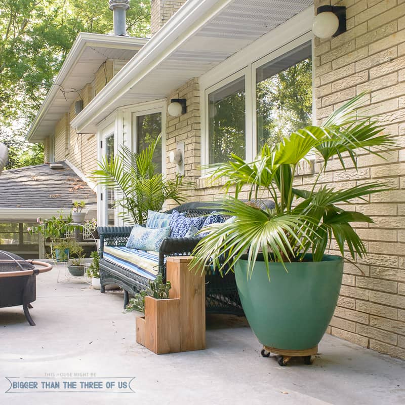 This budget friendly patio refresh includes lots of tips and projects for updating your space on the cheap!