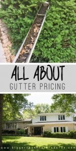 All about Gutter pricing