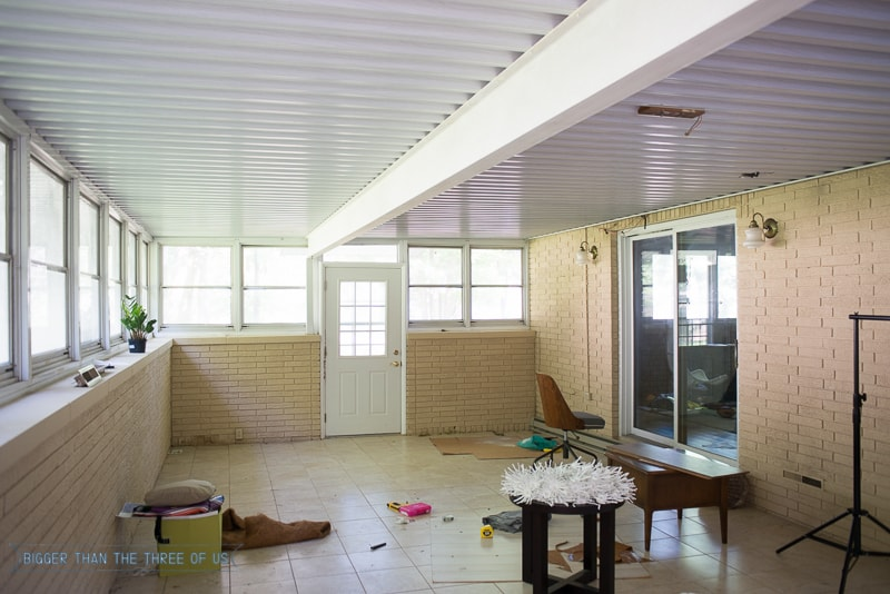 Sunroom Makeover all the before